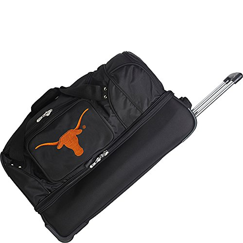 NCAA Texas Longhorns Rolling Drop-Bottom Duffel by Denco