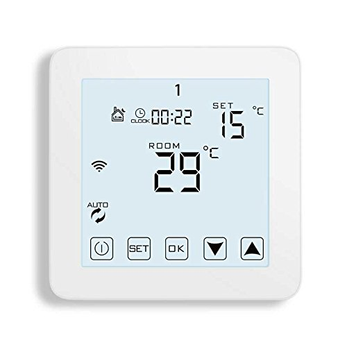 WiFi Thermostat, Programmable Touchscreen Smart Thermostat, Compatible with Alexa by CoolPai (Image #8)
