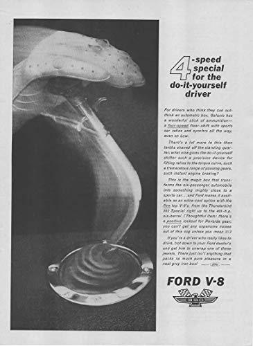 Ford Transmission Gear Ratios - Magazine Print Ad: 1962 Ford Galaxie V-8,