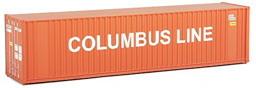 (Walthers Trainline 40' Hi-Cube Corrugated Container w/Flat Roof Columbus Line - Assembled Train Collectable Train)