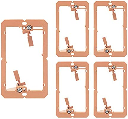 Buyers Point Single Gang Low Voltage Mounting Bracket Device for Telephone Wires HDMI Speaker Cables 100 1 Gang, 100 Pack UL Listed Network Cables Coaxial