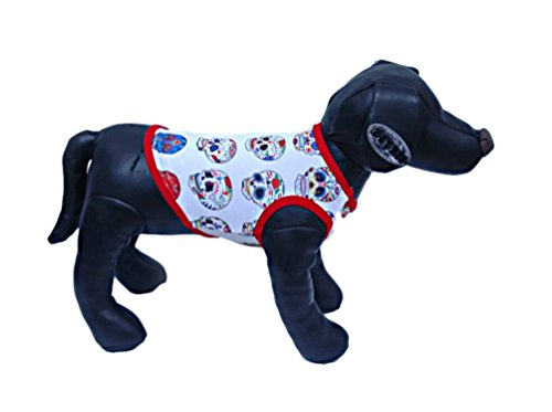 Freerun Pet Clothes Skull Bone Killer Vest Shirt for Small Dog Cat Puppy - Red, 2XL (How To Make A Cat Costume For Adults)
