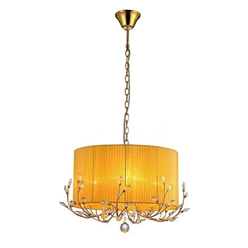Whse of Tiffany RL7936-4OR Warehouse of Tiffany Hebe Yellow/Orange Crystal Chandelier