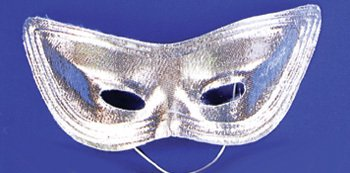 Lame Harlequin Mask - Harlequin Mask Lame Silver