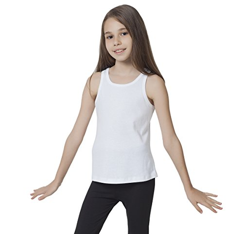(CAOMP Tank Tops Girls, Certified Organic Cotton, Sleeveless, Ribbed Tees.)