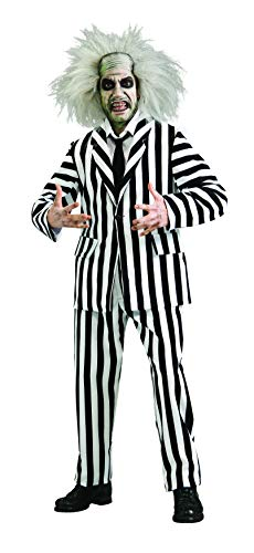 Beetlejuice Grand Heritage Collection Deluxe Costume, Black/White, Standard -