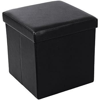 ollieroo faux leather folding storage ottoman