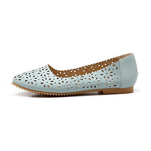 Balamasa Meisjes Vierkante Hielen Holle Luipaard Patroon Laag Uitgesneden Bovendeel Imitatie Lederen Pumps-schoenen Blauw