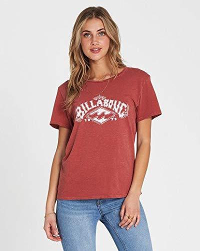 (Billabong Women's Painted Logo T-Shirt Redwood Small)