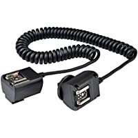 Godox TTL Off Camera Hot Shoe Flash Sync Cable Cord For Canon Speedlite + CEARI MicroFiber Clean Cloth