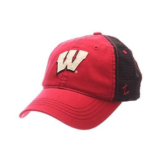 Zephyr NCAA Wisconsin Badgers Adult Men Springtime Relaxed Cap,Adjustable,Red