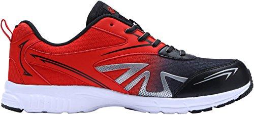 Punta Traspirante Scarpe Uomo Rosso Antiscivolo Lavoro Da In Leggere Acciaio Lm1805 Antinfortunistica Sneaker zUwzHaq