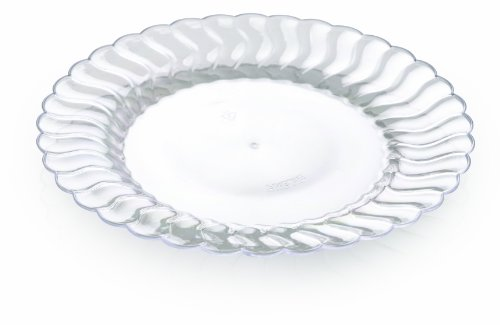 Fineline Settings Flairware Clear Shell Edged China-Like 6