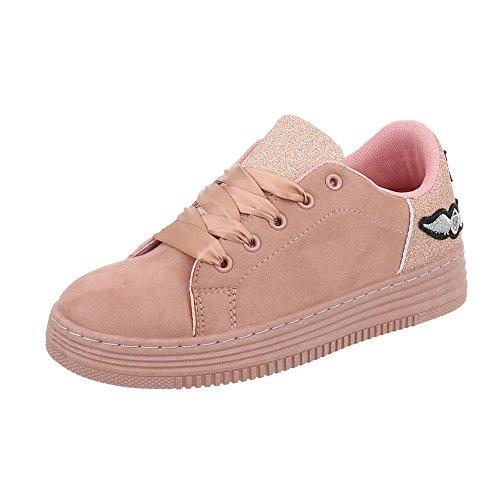 Low Piatto Scarpe Ital da Sneaker Design Donna rosa 209 AB Sneakers PXPZr0qx
