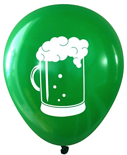 Saint Patrick's Day Beer Latex Balloons (16 pcs) by Nerdy Words ()