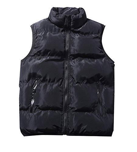 Winter Men's Vest Vests Down Schwarz Coat Down Men's Jacket Jacket Warm Unique Sleeveless Coat Vest Cotton 48waq8d1xF