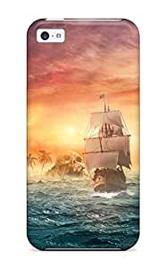 CATHERINE DOYLE's Shop New Style 6171154K39160008 New Premium Flip Case Cover Ship Skin Case For Iphone 5c