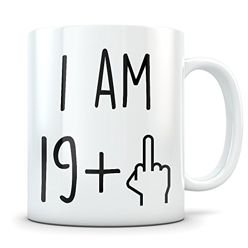 Funny 20th Birthday Gift for Women and Men - Turning 20 Years Old Happy Bday Coffee Mug - Gag Party Cup Idea as a Joke Celebration - Best Twenty Adult Birthday Presents -