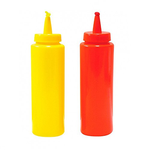 Novelty Phoney Fake Ketchup And Mustard Squirter Bottles ()