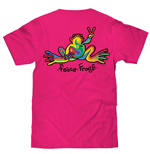peace-frogs-retro-frog-short-sleeve-licensed-t-shirt-hot-pink-x-large