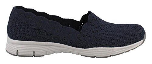 Skechers Women's, Seager Stat Slip On Shoes Wide Width Navy 10 W -  191665553670
