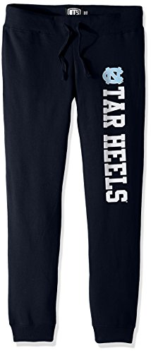 NCAA North Carolina Tar Heels Women's Ots Fleece Pants, X-Large, Fall Navy
