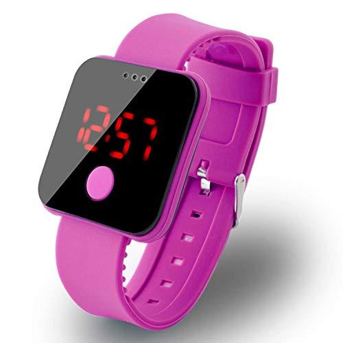 Bifast Bulges Unisex Fashion LED Ultra-Thin Large-Screen Electronic Wristwatch Bracelet Bangl Wrist Watches