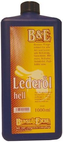 Bense Eicke Lederöl 1000 Ml Hell 2202 Sport Freizeit