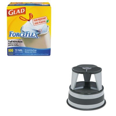 (KITCOX70427CRA100182 - Value Kit - Cramer Original Kik-Step Steel Step Stool (CRA100182) and Glad ForceFlex Tall-Kitchen Drawstring Bags (COX70427))