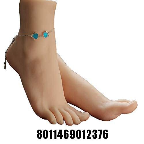 1 Pair Silicone Lifesize Female Mannequin Foot Display Jewerly Sandal Shoe Sock Display Kunst Sketch mit Nail