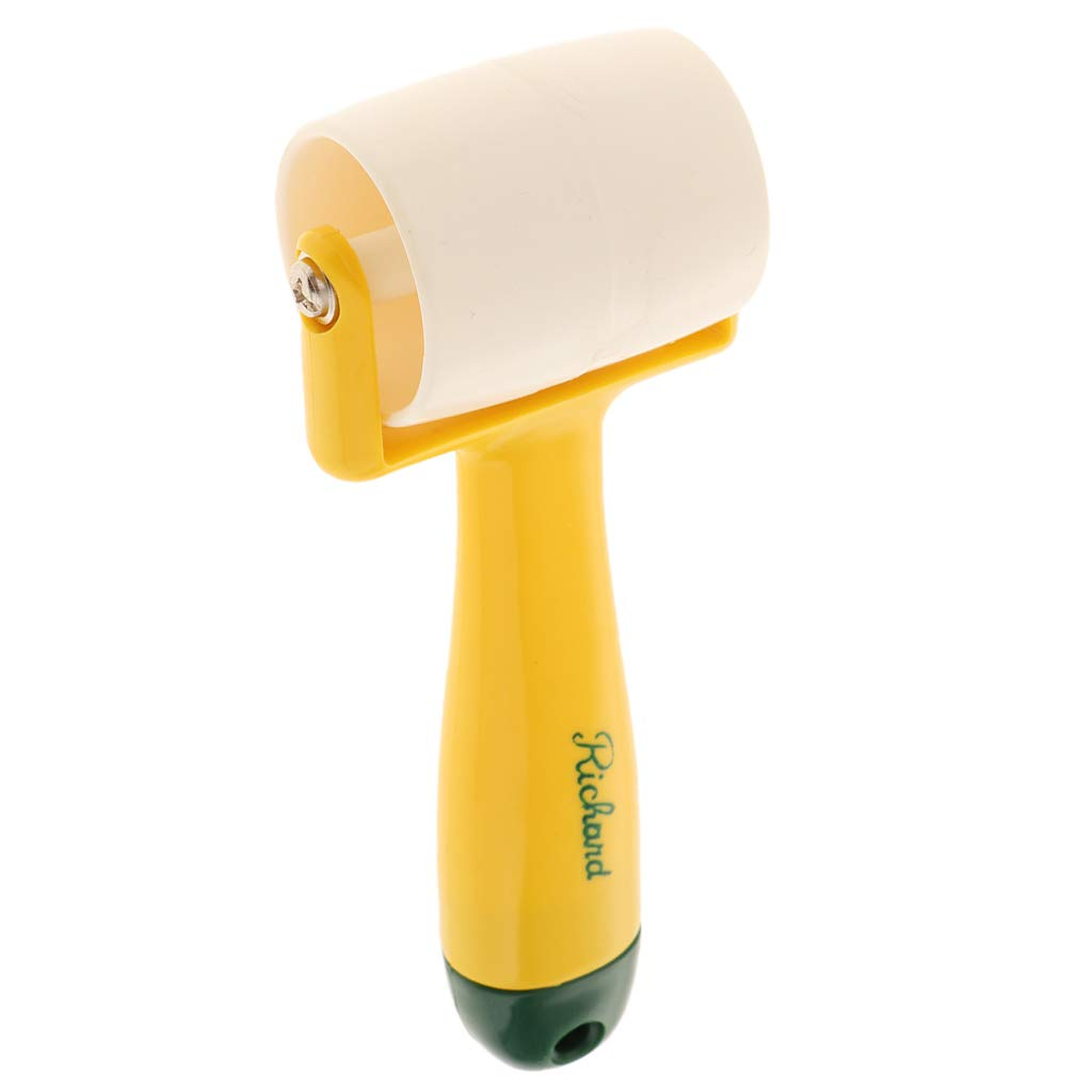 Wooden Roller Yellow Internal//External Corner Wallpaper Seam Roller Home Decoration Seamed Wall Paper Tool with Long Handle