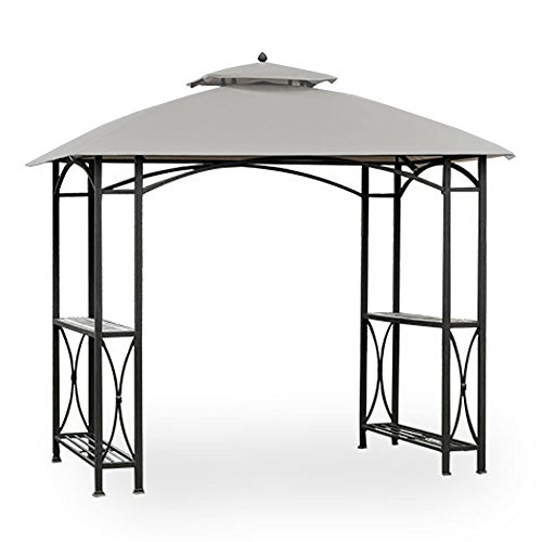 (Garden Winds Replacement Canopy for Sheridan Grill Gazebo - Riplock 350 - Slate Gray)