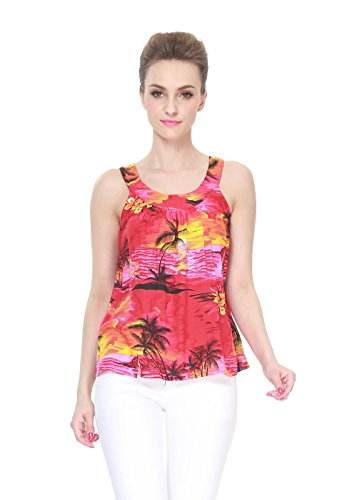 Hawaii Hangover Women's Hawaiian Tank Top in Sunset