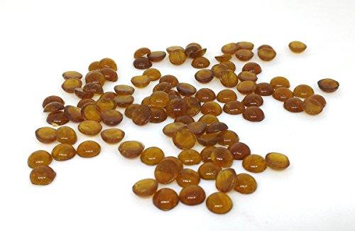 Rastogi Handicrafts Centerpieces,Glass Gems for Vase Fillers,Wedding, Decoration Pebbles 100 pcs (Yellow) size - 10 mm