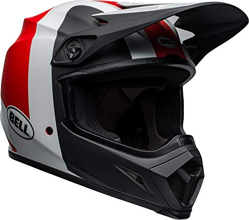Bell MX-9 MIPS Off-Road Motorcycle Helmet (Presence Matte/Gloss Black/White/Red, Large) ()