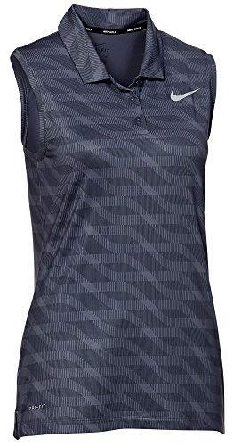 (Nike Women's Dry Sleeveless Golf Polo (Thunder Blue,)