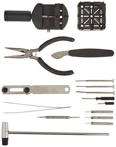 Stalwart 16 Piece Professional Watch Jewelry Repair Tool Kit from Stalwart