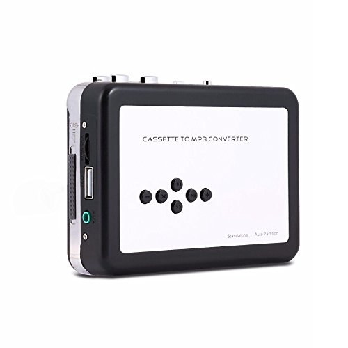 Proslife Cassette Player Tape to MP3 Converter Retro Walkman Auto Reverse Portable Audio Tape Player with Earphones, No Need Computer (Reverse Player With Cassette Auto)
