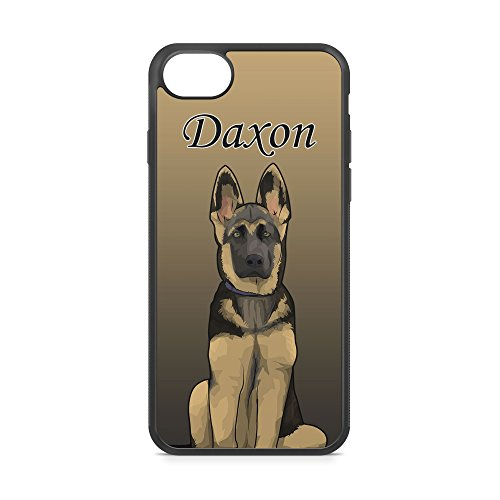 (CodeiCases iPhone 6 Plus/6s Plus German Shepherd Dog With Custom Name Cover, Rubber Black Dog With Name iPhone Case)