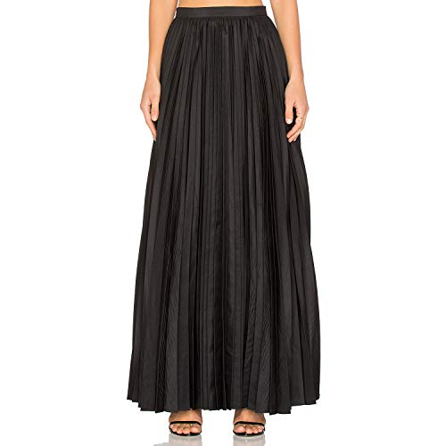 Label Blaque - Blaque Label Womens Pleated Maxi Skirt Black Extra Small