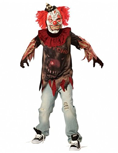 New Kids Halloween Evil Sideshow Clown Boys Fancy Dress Party Costume