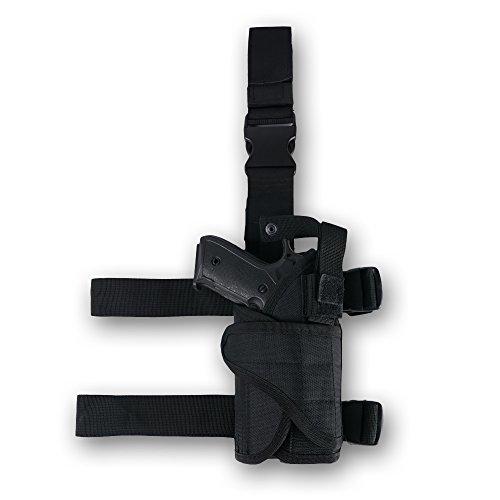 Alritz Leg Gun Holster, Right Handed Drop Leg Handgun Holster with Magazine Pouch, Tactical Pistol Thigh Holder Bag for Hunting, Shooting, Gun Training Right Hand Drop Leg