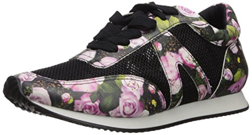 Sneaker Parnaiba Schutz Black Mix Women's Flower Fashion 8aawqtx4