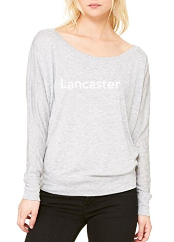 Ugo Lancaster CA California Map Flag Home of University of Women's Flowy Long Sleeve Off - Outlets Ca Lancaster
