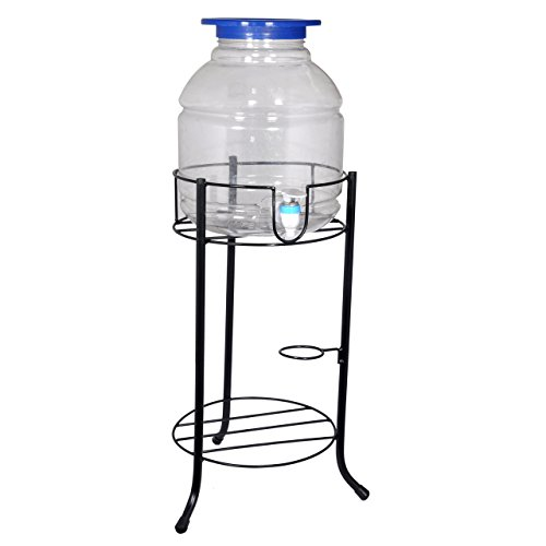 D&V ENGINEERING – Creative in innovation Metal Water Dispenser/Can/Pot/20 L Bottle Holder/Stand for Home & Kitchen, Office, School, Hospitals. (Ring Dia 27 cm, Height- 53 cm, Black). Price & Reviews