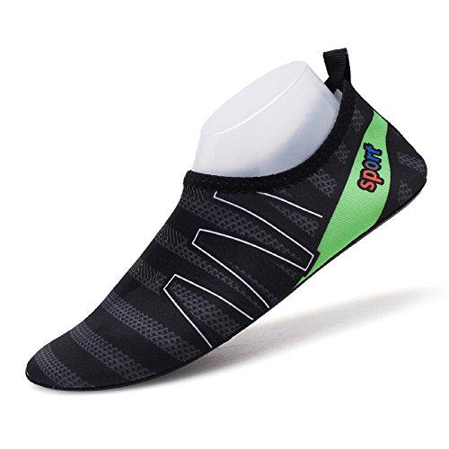 Lucdespo rápido SJK15 luz y la calzado de descalzos natación de natación piel amantes zapatos pies Zapatos zapatos pegada negro secado playa rgwHqrZav