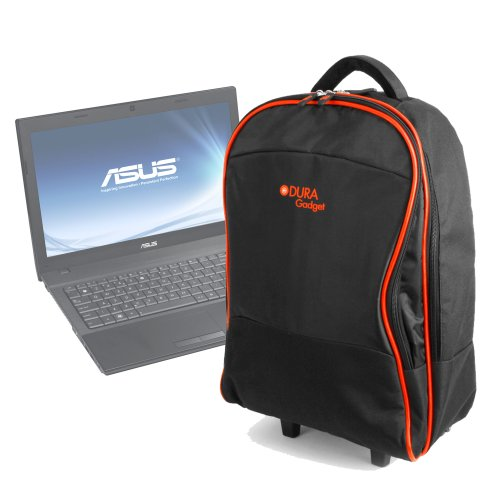 DURAGADGET Lightweight Trolley Style Carry Case - Suitable for use with ASUS N55 SL/SF   P52 Series   B53 Series & K53 Series