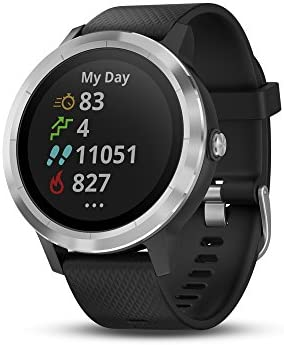 Garmin v voactive 3, GPS Smartwatch with Contactless Payments and Built-In Sports Apps, Black with Silver Hardware