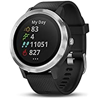 Garmin Vivoactive 3 GPS Fitness Tracker Smartwatch with Heart Rate Monitor (Black with Stainless)