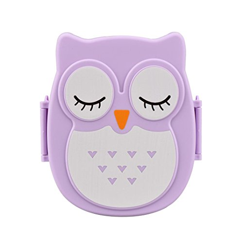 Sinfu Owl Lunch Box Food Container Storage Box Portable Bento Box (C) (Owl Food)